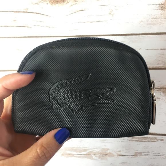 3a7e54a7e5bf0a Lacoste Handbags - Lacoste Coin Purse Black Zipper